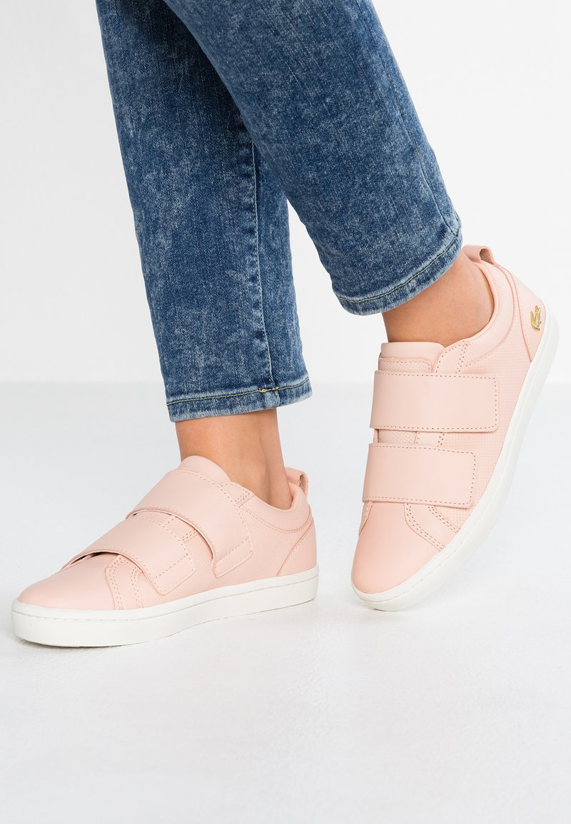 Lacoste - STRAIGHTSET STRAP - Sneaker low - rose