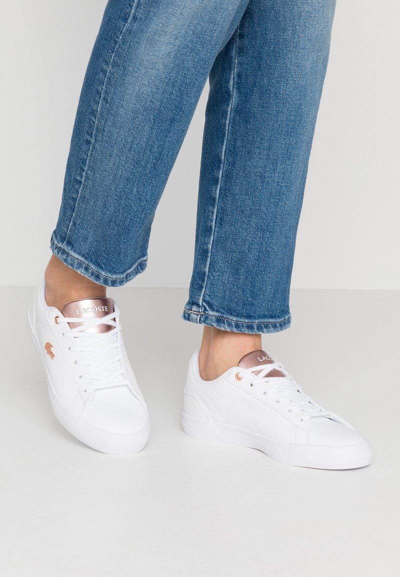 Lacoste - LEROND  - Trainers - white/light pink