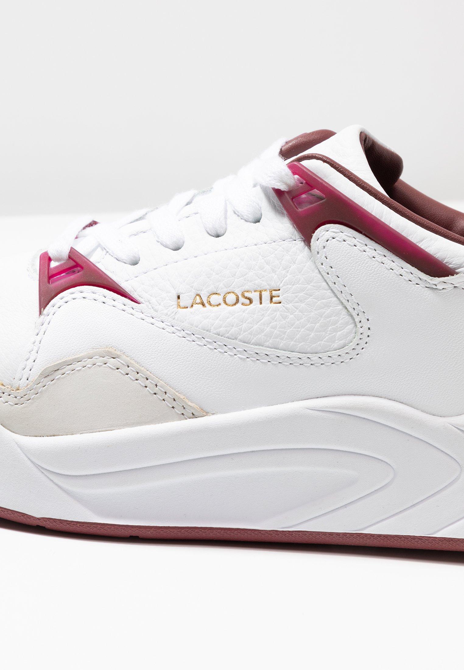 White SlamBaskets Red Basses dark Court Lacoste sxQdCthr