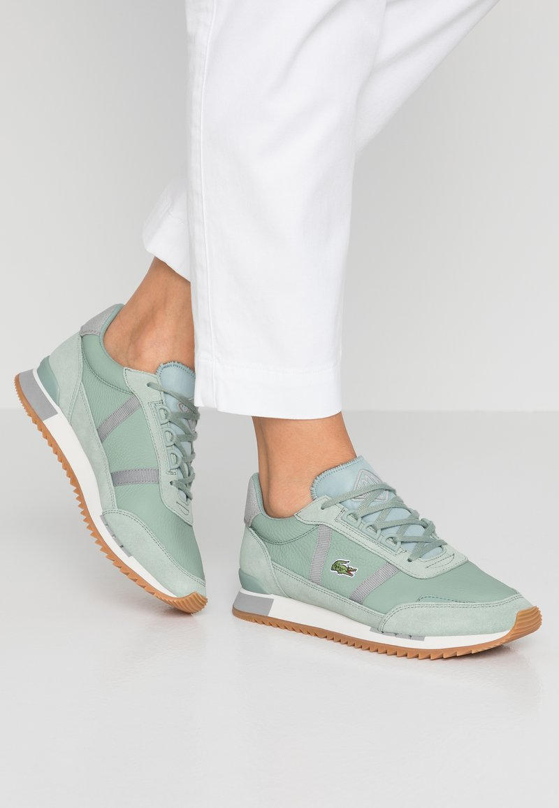 Lacoste - PARTNER RETRO - Trainers - light green/offwhite