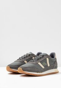 Lacoste - PARTNER RETRO - Trainers - dark grey/offwhite
