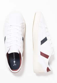 Lacoste - SIDELINE - Sneakers - white/dark red/navy - 3