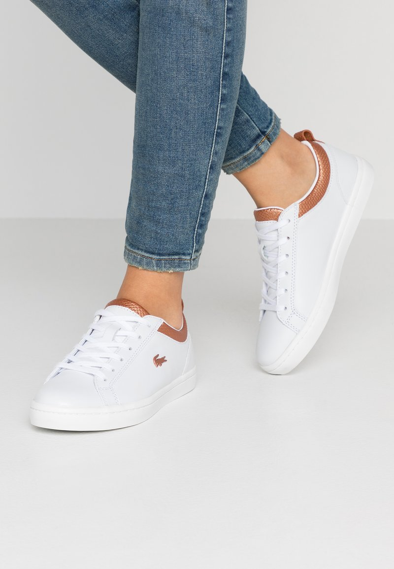 Lacoste - STRAIGHTSET  - Sneakers laag - white/copper