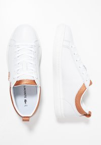 Lacoste - STRAIGHTSET  - Sneakers basse - white/copper - 3