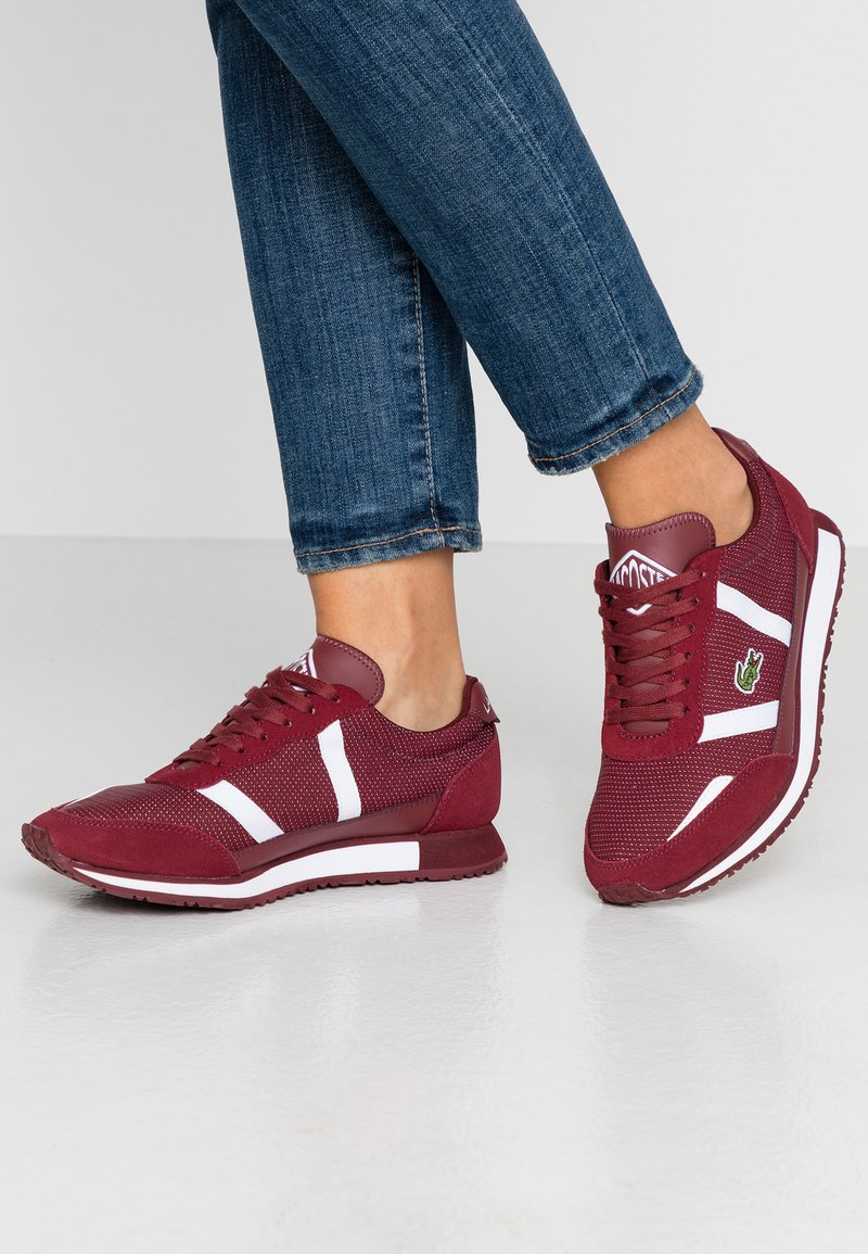 Lacoste - PARTNER  - Sneaker low - dark red/white