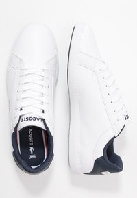 Lacoste - GRADUATE  - Sneakersy niskie - white/navy/red - 3