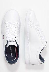 Lacoste - CARNABY EVO - Trainers - white/navy/red - 3