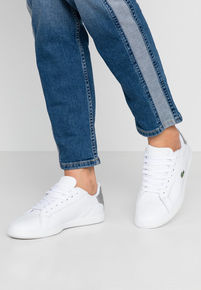 Lacoste - GRADUATE  - Trainers - white/silver