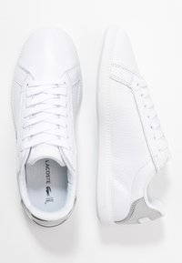 Lacoste - GRADUATE  - Trainers - white/silver - 3