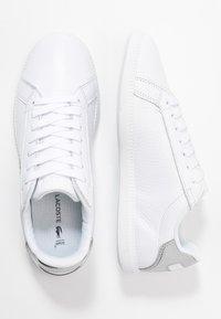 Lacoste - GRADUATE  - Matalavartiset tennarit - white/silver - 3