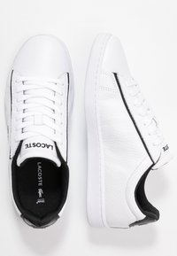 Lacoste - CARNABY EVO - Sneakers laag - white/black - 3
