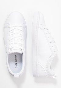 Lacoste - STRAIGHTSET  - Matalavartiset tennarit - white - 3