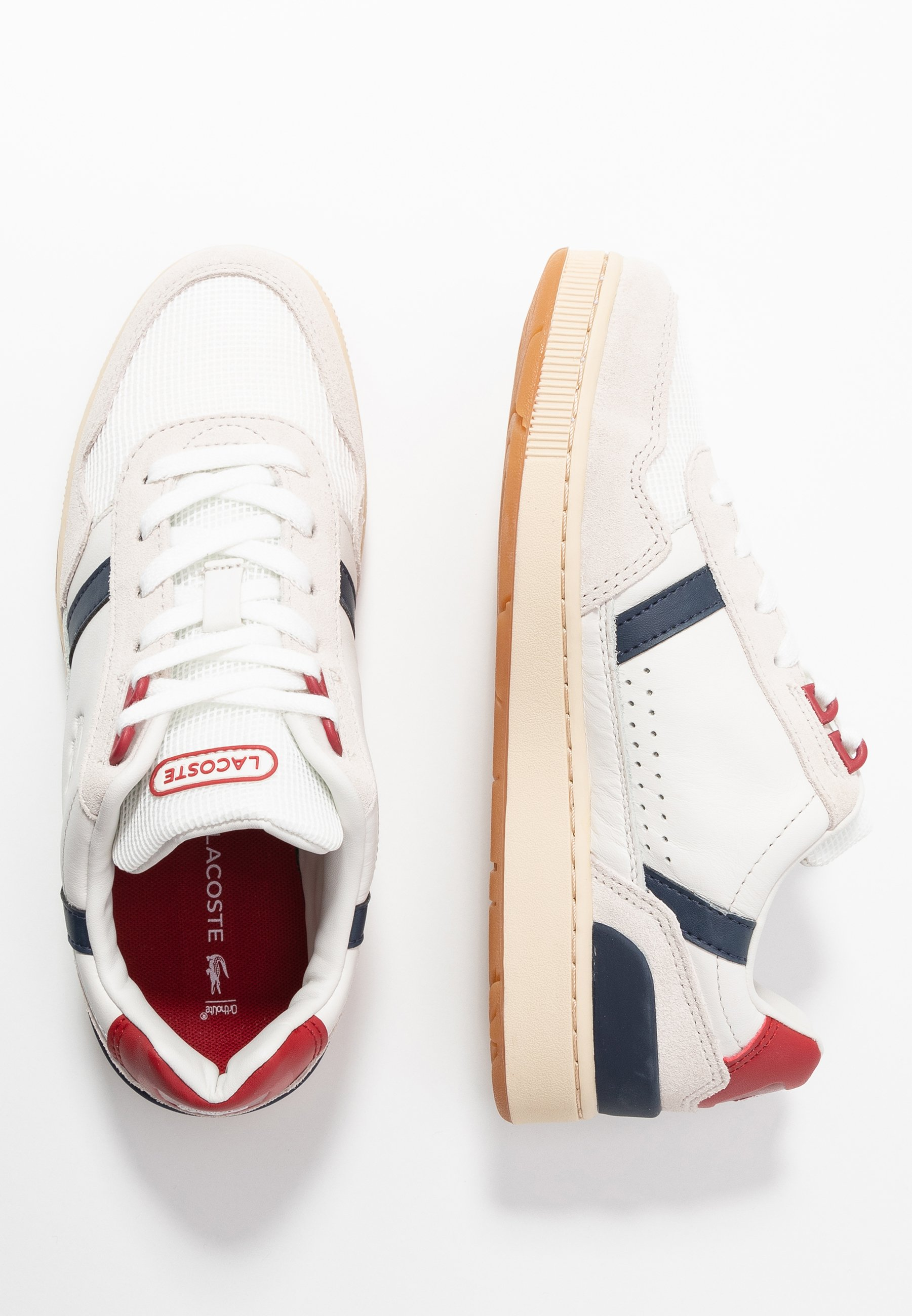 Lacoste T-CLIP - Sneakers - white/navy/red