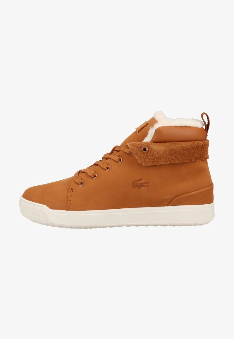 Lacoste - Baskets montantes - brown/off white