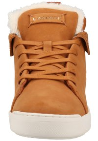 Lacoste - Baskets montantes - brown/off white - 5