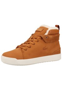 Lacoste - Baskets montantes - brown/off white - 2