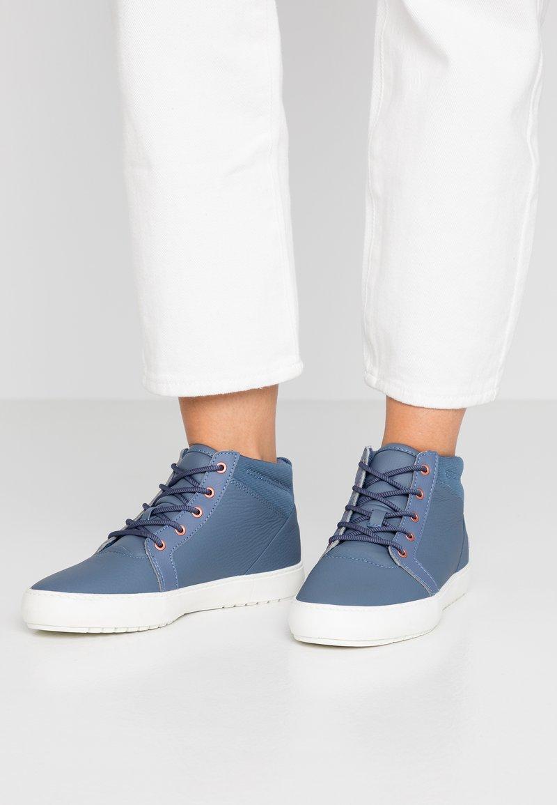 Lacoste - AMPTHILL - Sneaker high - dark blue/offwhite