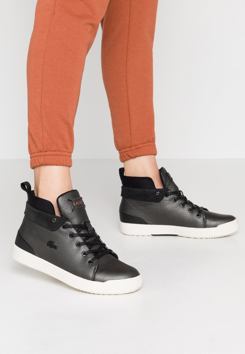 Lacoste - EXPLORATEUR CLASSIC - Sneakers high - black/offwhite