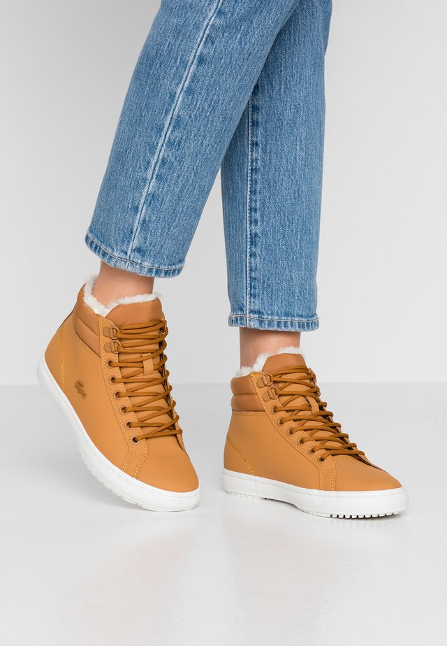 Sneakers high - tan/offwhite