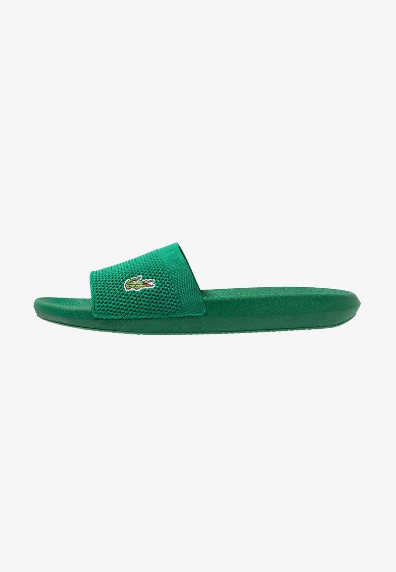 Lacoste - CROCO SLIDE - Sandaler - green