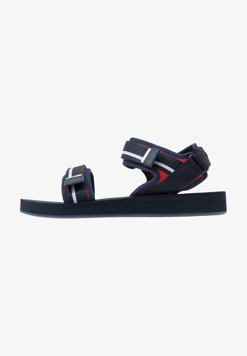 Lacoste - SURUGA - Sandals - navy/red/white