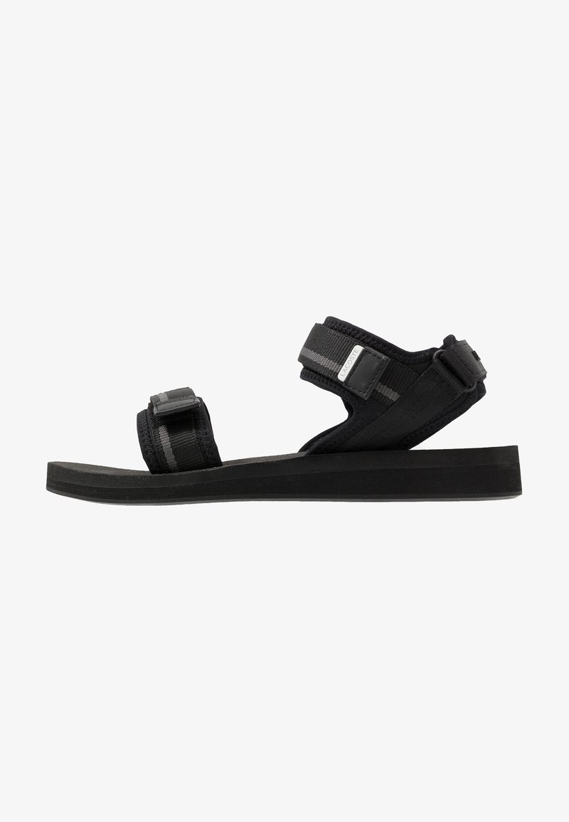 Lacoste - SURUGA - Sandals - black/dark grey