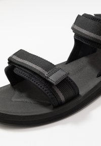 Lacoste - SURUGA - Sandals - black/dark grey - 5