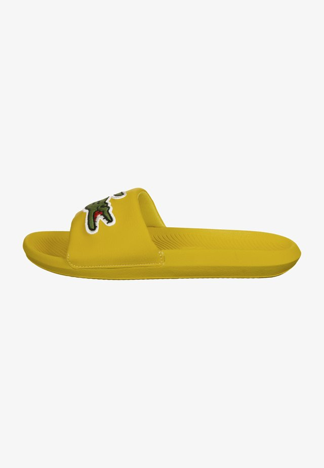 CROCO SLIDE - Badslippers - yellow/green