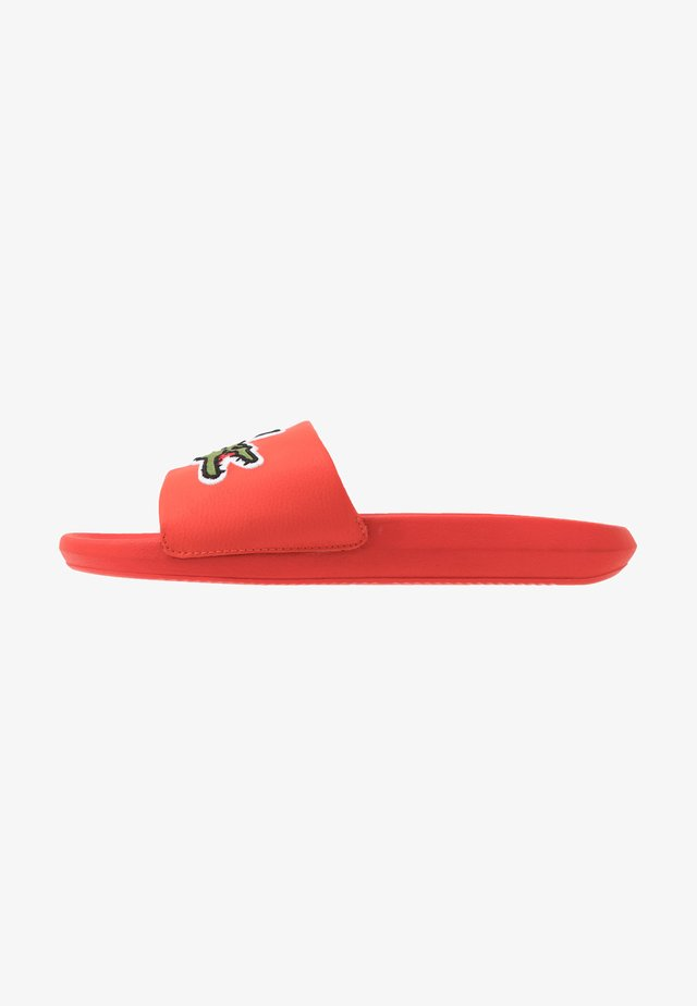 CROCO SLIDE - Badslippers - orange/green