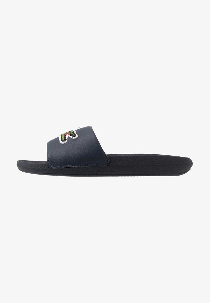 Lacoste - CROCO SLIDE - Sandali da bagno - navy/green