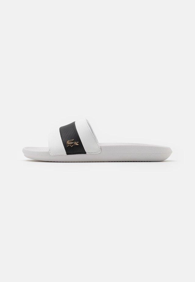 CROCO SLIDE - Slip-ins - white/black
