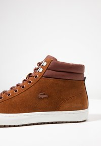 Lacoste - STRAIGHTSET INSULAC - High-top trainers - brown/offwhite - 5
