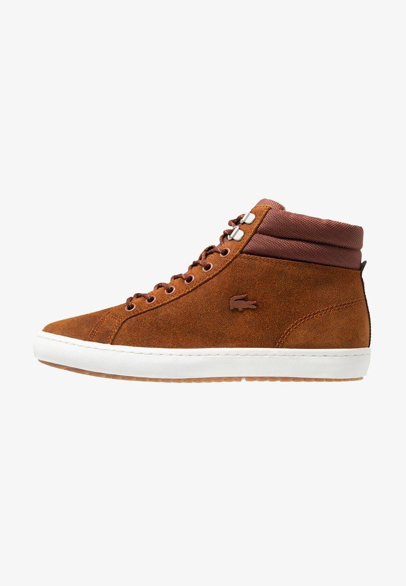 Lacoste - STRAIGHTSET INSULAC - Zapatillas altas - brown/offwhite