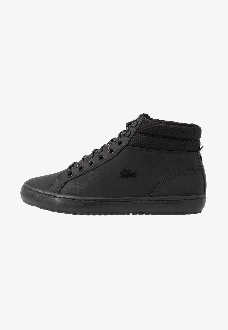 Lacoste - STRAIGHTSET THERMO - Sneakersy wysokie - black