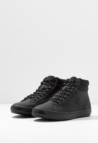 Lacoste - STRAIGHTSET THERMO - Sneakersy wysokie - black - 2