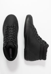 Lacoste - STRAIGHTSET THERMO - Sneakersy wysokie - black - 1