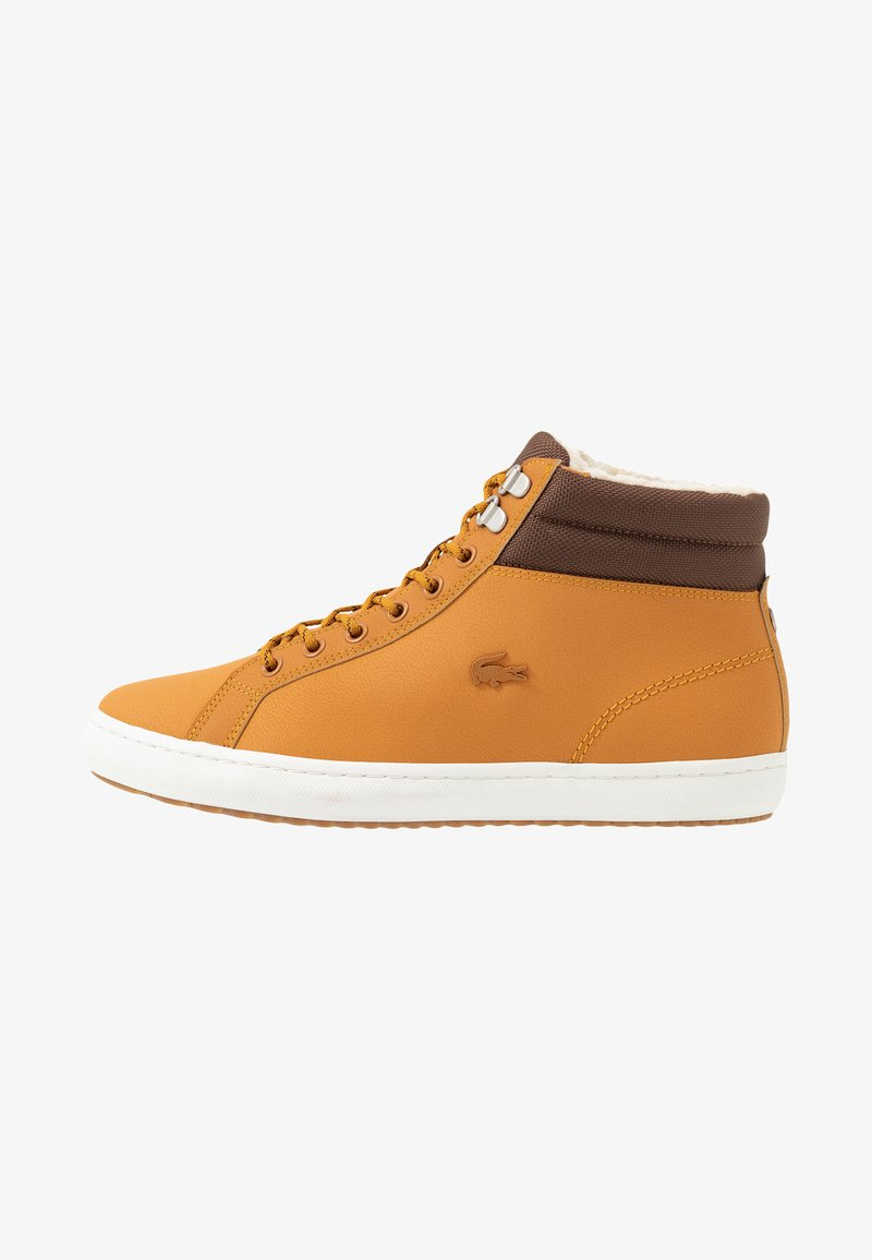 Lacoste - STRAIGHTSET THERMO - Sneakers high - tan/brown