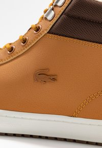 Lacoste - STRAIGHTSET THERMO - High-top trainers - tan/brown - 5