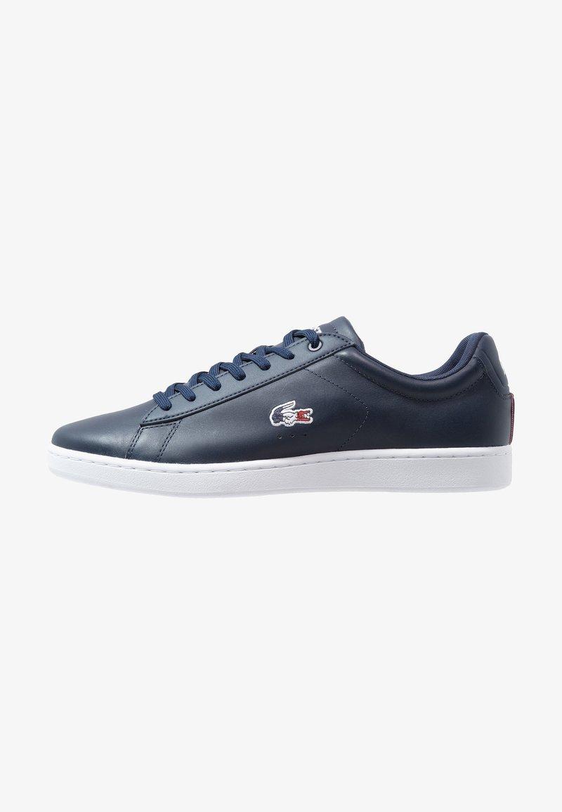 Lacoste - CARNABY EVO - Sneakersy niskie - navy/white/red