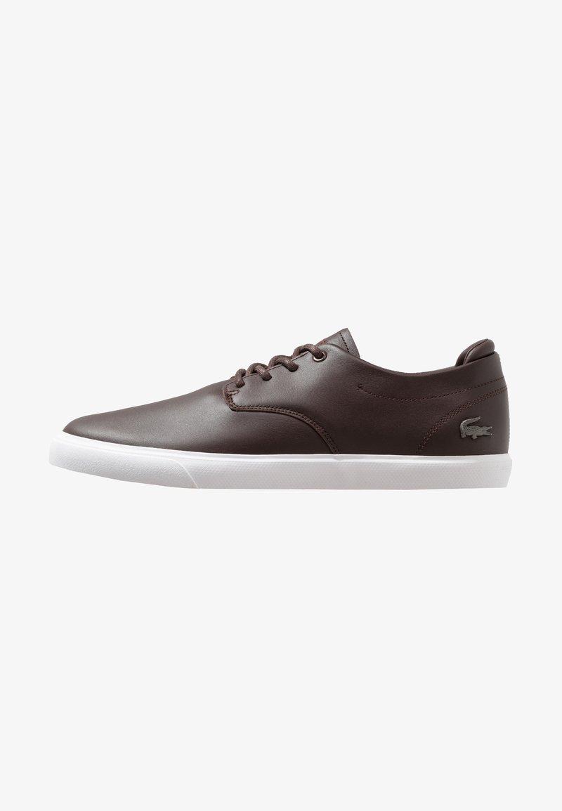 Lacoste - ESPARRE - Sneakersy niskie - dark brown/white