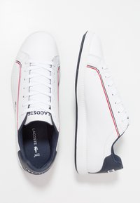 Lacoste - GRADUATE - Trainers - white/navy/red - 1