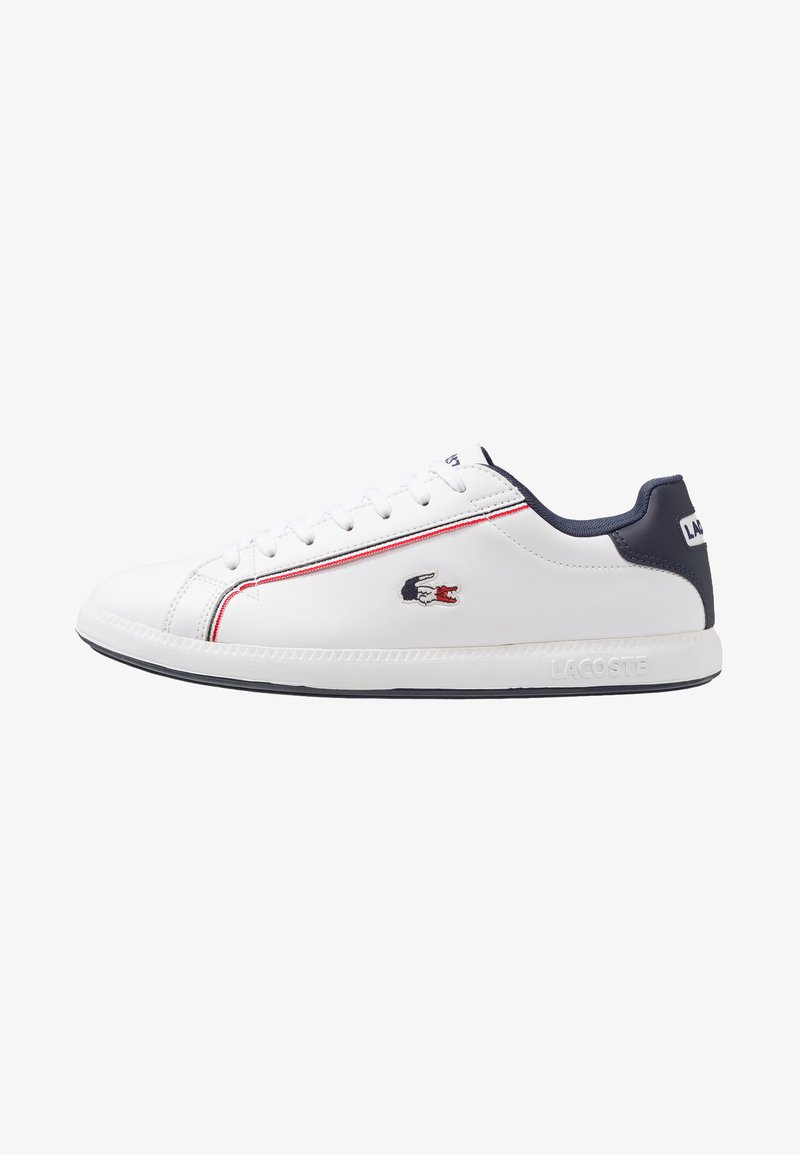 Lacoste - GRADUATE - Sneakersy niskie - white/navy/red