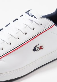 Lacoste - GRADUATE - Trainers - white/navy/red - 5