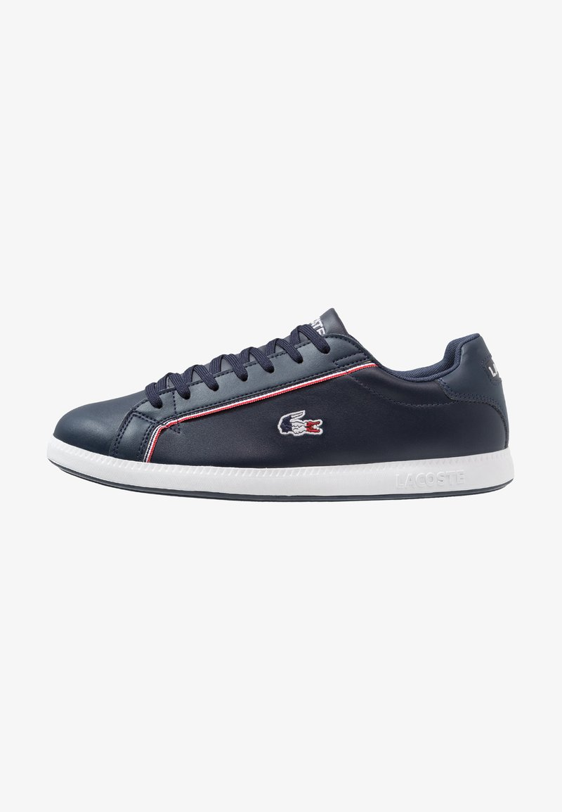 Lacoste - GRADUATE - Sneakersy niskie - navy/white/red