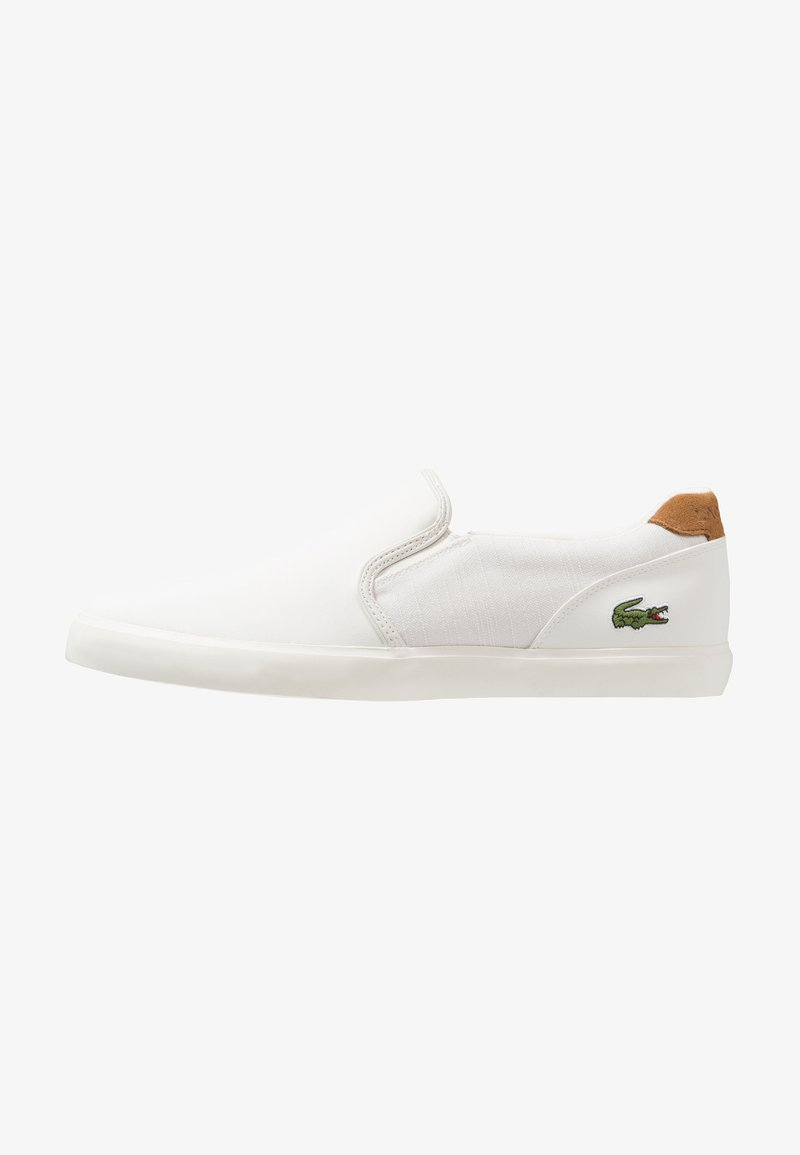 Lacoste - JOUER - Slip-ons - offwhite/light brown