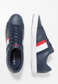 Lacoste - LEROND - Baskets basses - navy/white/red - 1