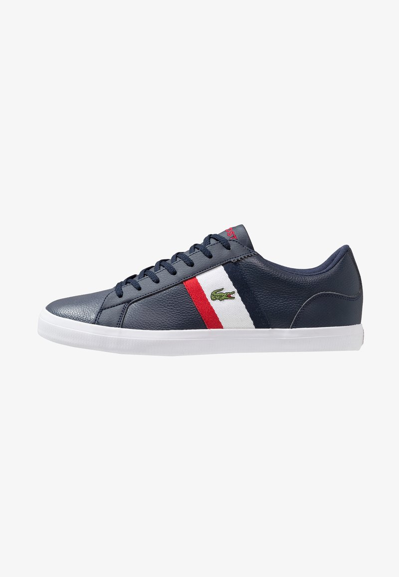 Lacoste - LEROND - Baskets basses - navy/white/red