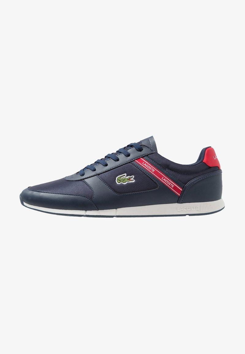 Lacoste - MENERVA SPORT - Sneaker low - navy/red