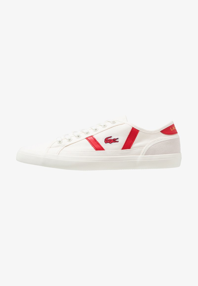 Lacoste - SIDELINE - Sneaker low - offwhite/red