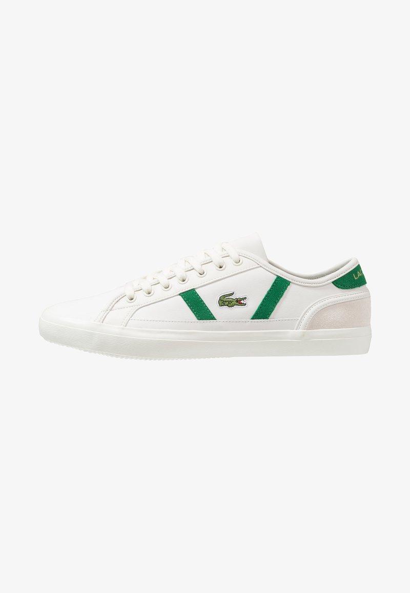 Lacoste - SIDELINE - Sneaker low - offwhite/green